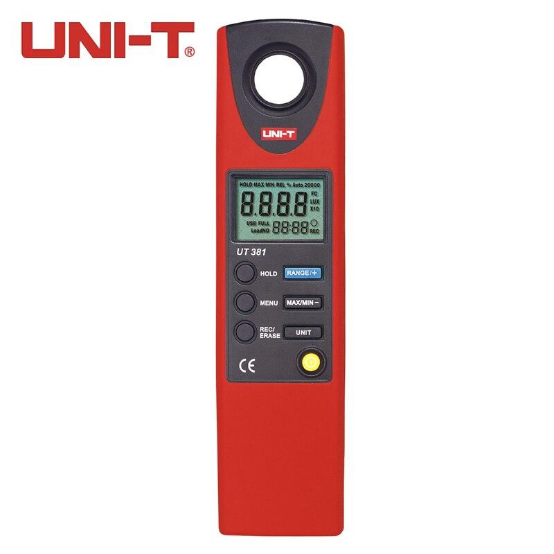 UNI-T  UT381 Split Light Luxmeter Meters 20-20000 Lux Lumen Digital Illuminometer Luminometer Photometer high quality uni t ut382 split light luxmeter meters 20 20000 lux lumen digital illuminometer usb transfer
