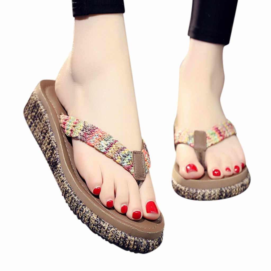 0382084324da9 Detail Feedback Questions about YOUYEDIAN New Women Summer Non slip  Platform Shoes Wedges High Heel Woman Outdoor Beach Slippers Sandals sapato  feminino 3 ...