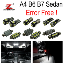 22pc x 100% Canbus Error Free LED interior dome light full Kit for Audi A4 S4 RS4 B6 B7 Sedan Saloon ONLY (2002-2008)