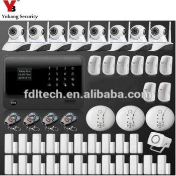 YobangSecurity Wifi Burglar Alarm system Security Wireless Wifi GSM Autodial Call Home House Intruder Alarm with IP Camera