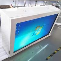 32 43 55 inch Windows or Android OS advertising transparent lcd touch screen monitor kiosk signage display