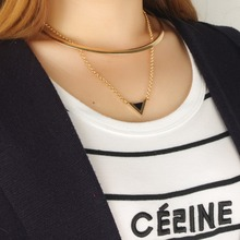 NANBO Fashion Choker Gold Chain Triangle Short Necklaces Collars Necklace Vintage Collar collier Dropshipping