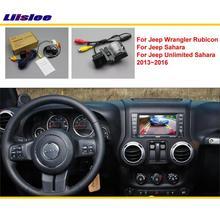 Для Jeep Wrangler Rubico/Sahara/Unlimited 2013~ Автомобильная камера заднего вида/RCA и экран совместимый