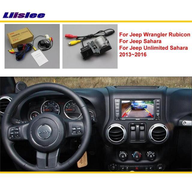 Liislee para Jeep Wrangler Rubico/ahara/ilimitado 2013 ~ 2016 cámara trasera de coche/RCA y Original compatible con pantalla