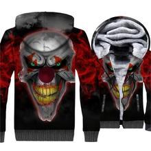 Stephen Kings It 3D Pattern Clothing Streetwear Hoodie 2018 Autumn Winter Hip Hop Mens Sweatshirts Evil Joker Hoodies Jacket