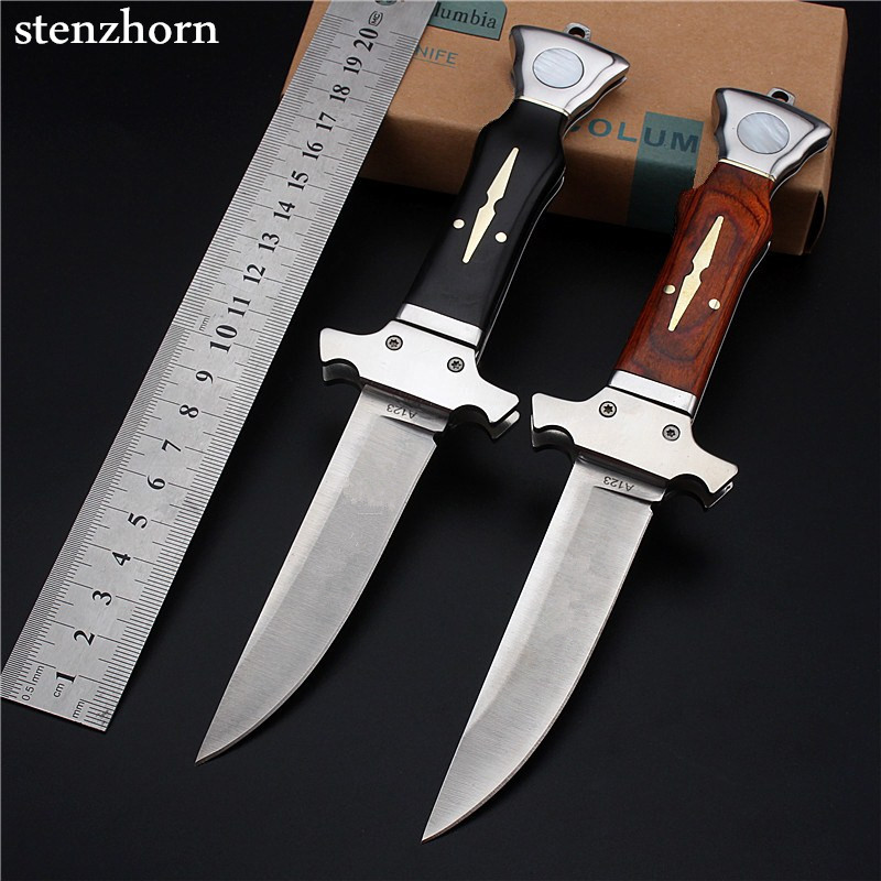Stenzhorn 2017 Hot Sale Wood High Quality Outdoor Folding Knife Self-defense Wilderness Survival with Hardness Wild Fruit Tauren stenzhorn 2017 new real authentic self defense wilderness survival high hardness knife with wild fruit folding outdoor the devil