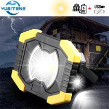 Solar Light Portable Work Spotlignt 2400mAh Camping Lantern USB Rechargeable COB LED Flashlight Searchlight For Outdoor