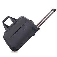 トロリー旅行バッグ手荷物ローリングダッフルバッグバッグ防水オックスフォードスーツケース車輪荷物を続けていくユニセックス小さなサイ