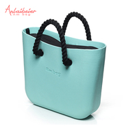 Mini Mid Size Obag O Bag Style AMbag With Insert Lining And Colorful Handles Waterproof Fashion