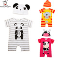 Infant Baby Romper Cartoon Newborn Baby Boy Clothing Sets Short Sleeve Cute Animal Jumpsuit And Hat Suits For Baby Kids Costume