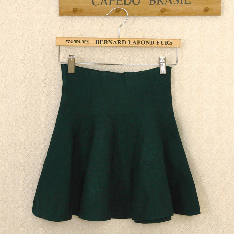 ffb482aed € 6.5 15% de DESCUENTO|2015 nuevo Otoño Invierno faldas cortas mujer alta  cintura tejido lana falda femenina talla grande plisada falda gratis ...