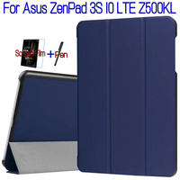 Newest Stand Flip Smart PU Leather Cover For Asus ZenPad 3S 10 LTE Z500KL 9 7