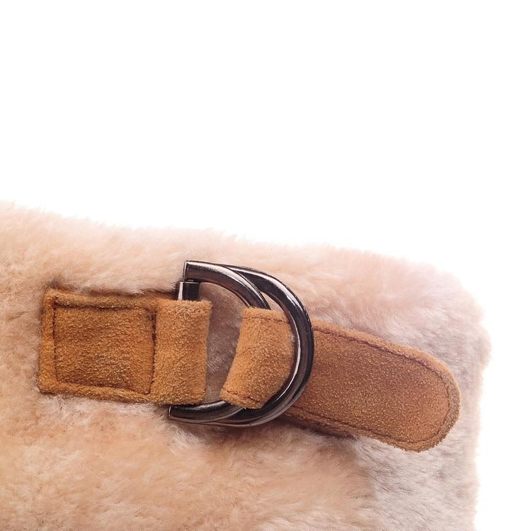b0ead3335 marrom Mulheres Warmful Além Inverno Grande Altas 43 Botas De Joelho  Qualidade Preto Couro Marca amarelo Sapatos ...