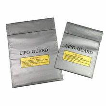 2017 New RC LiPo Li-Po Battery Fireproof Safety Guard Safe Storage Bag Charge Charging Sack size 180x230mm Or 230x300mm(China)