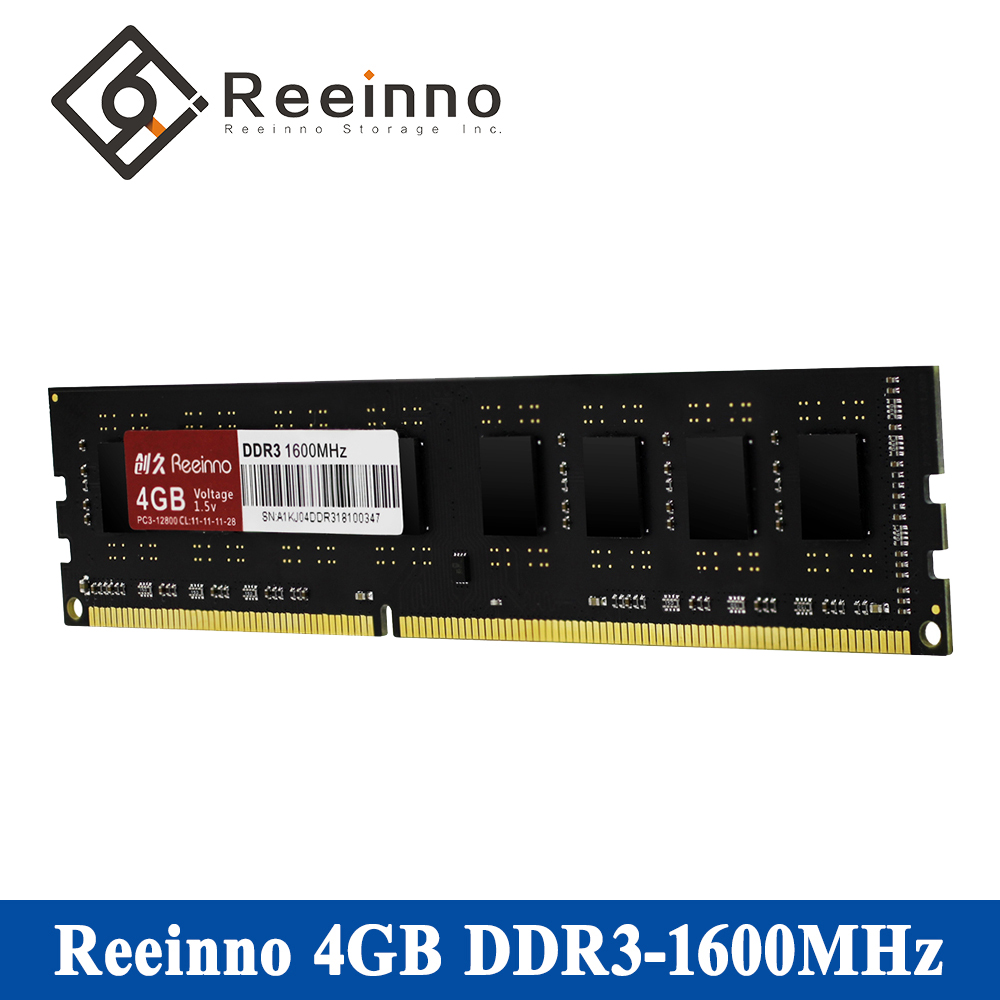 Reeinno DDR3 RAM Desktop memory Frequency 1600MHz Capacity 4GB/8GB Memory Voltage 1.5V Lifetime warranty DDR3 Single memory RAMs