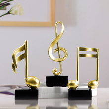 Piano Scale Music note small ornaments Resin Arts and CraftsConcert Hall decorations miniature figurines Gifts Home Decoration