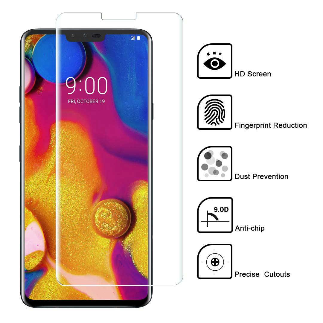 UV Liquid Tempered Glass For LG V30 V40 G7 ThinQ Screen Protector 9D Curved Film for LG V30 UV Glue Glass for LG V40 Full Cover