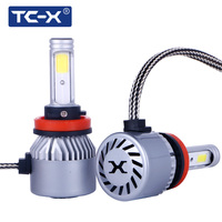 TC X 2PCS H11 H8 H9 COB LED Car Headlights Fog Light High Power Main Beam