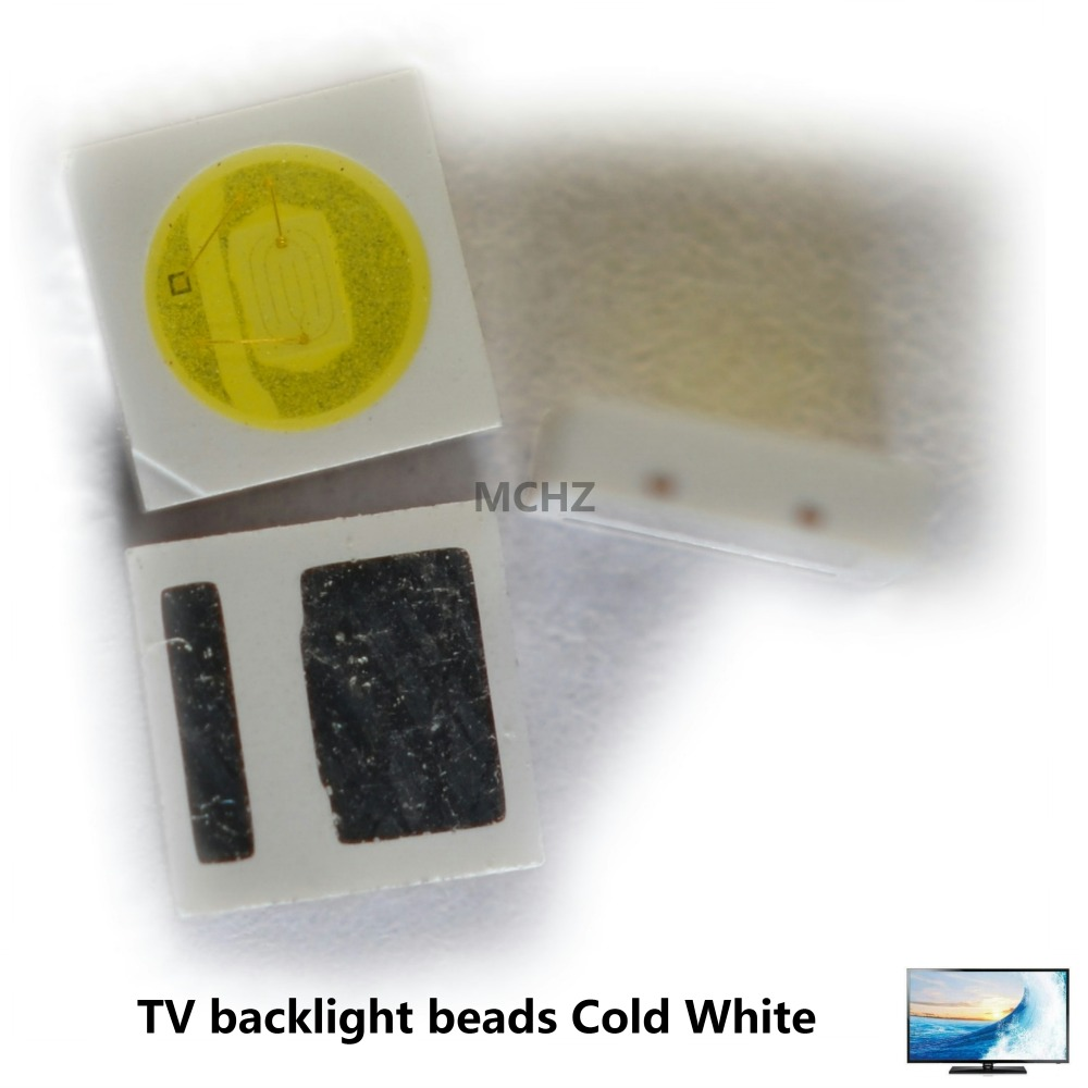 100pcs EVERLIGHT  Lextar AOT LED Backlight High Power LED 1W 3030 3V-3.6v Cool White 110LM TV Application 3030 Smd Led Diode