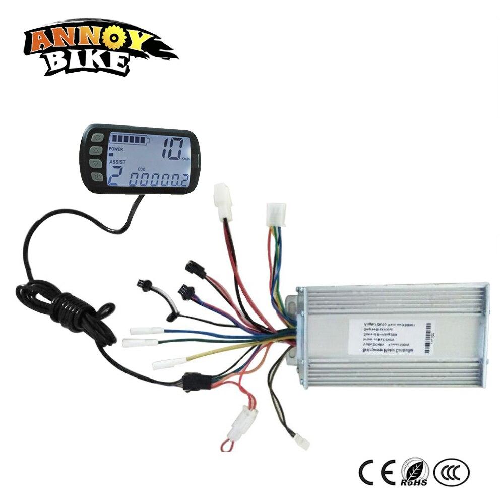 Bicicleta Eléctrica 36V48V24V 250 W 500 W 1000 W bicicleta eléctrica onda sinusoidal estable pantalla LCD LED Brushless Ebike controlador