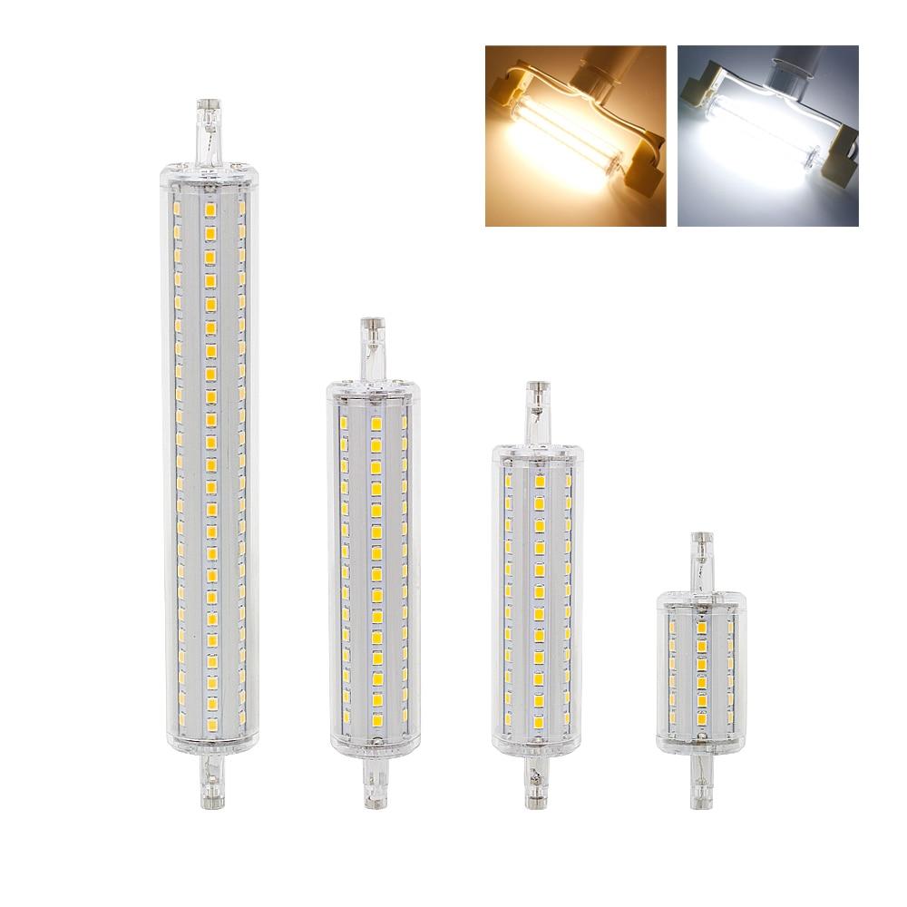Затемнения лампы R7S светодиодная 2835 SMD 78 мм 118 мм 135 мм 189 мм свет 7 Вт 14 Вт 20 Вт 25 Вт заменить галогенные лампы AC 85-265 В прожектор