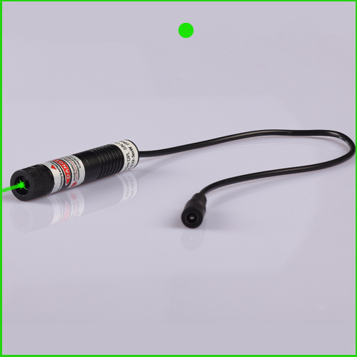 20mw 532nm Dot green laser module with power adapter 16x72mm plug and use