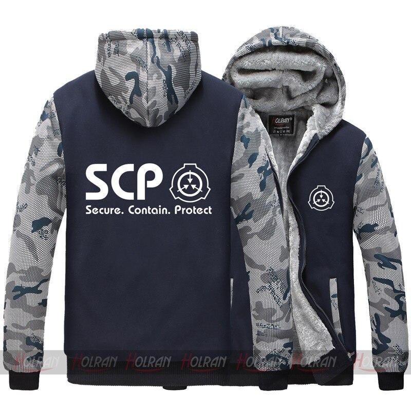 Anime SCP Procédures De Confinement Spéciales Fondation Super naturel sweatshirt à capuche épais veste manteau