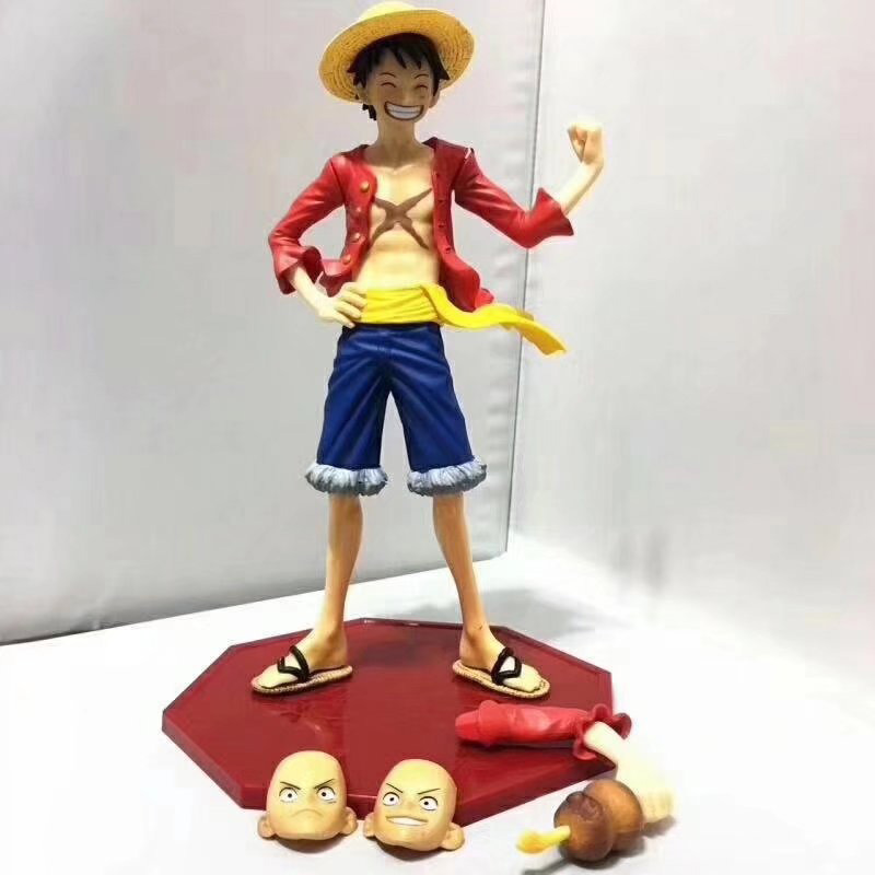 Action Figure 1/7 Scale Painted Figure Ham Ver Monkey D Luffy Pvc Figure Toy Brinquedos One Piece Luffy 20th Anniversary Ver