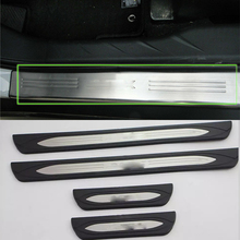 Car Parts door scuff plate cover 4pcs plastic +steel Styling accessories For Mitsubishi 2013 ASX
