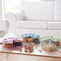 NAI YUE Nuts Candy Box Creative Dried Fruit Plate Sub Melon Seeds Plate Snack Plate Modern