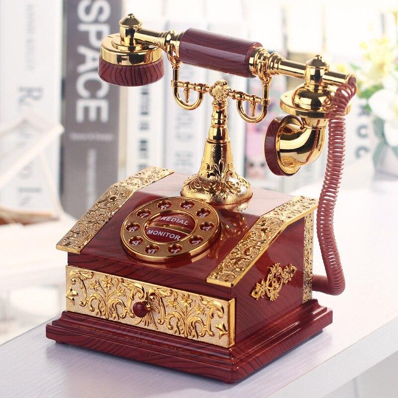 Lover Wedding Home decor Music Box Classical Red Telephone Figurine Desktop Jewelry Box Luxurious Gift High Quality Music Box