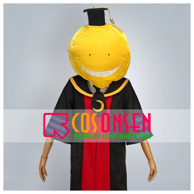 COSPLAYONSEN Assassination Classroom Korosensei Cosplay Costume Head Teacher Cloak Gown All Size