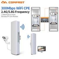 2.4G, 5 GHz 300 M Longo Alcance Ao Ar Livre CPE Roteador Sem Fio Wi-fi Repetidor Extensor Wi-fi Ponto de Acesso Wi-fi estação de ponte IP Cam wi-fi
