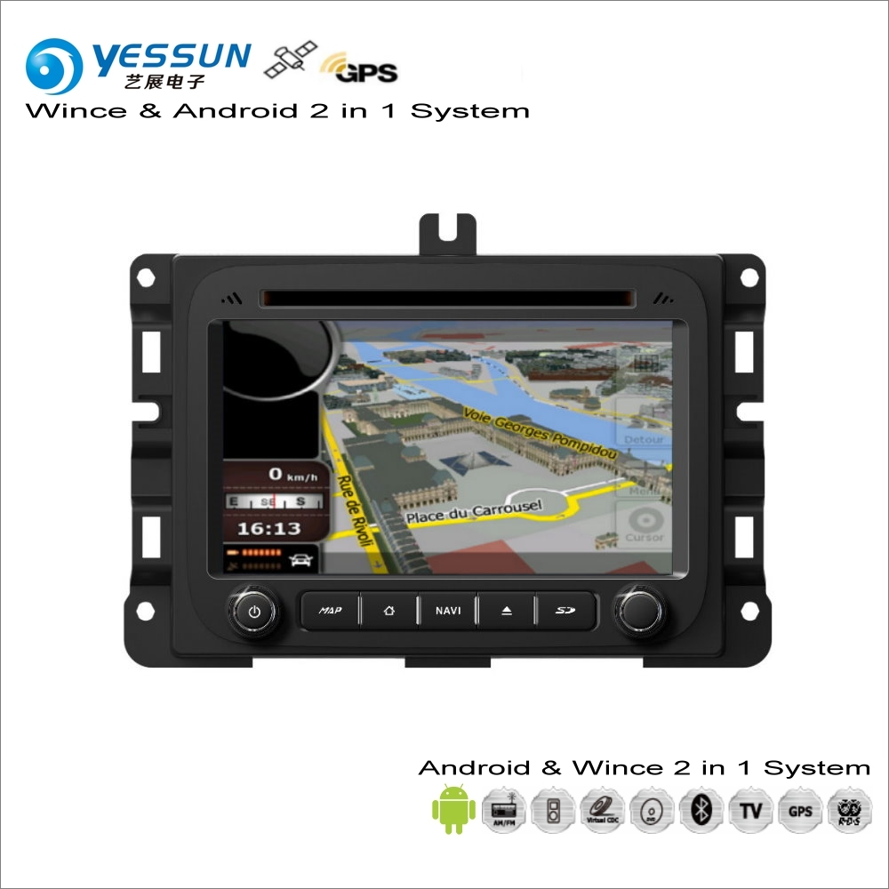 YESSUN For Dodge RAM 2013~2014 Car Android Multimedia Radio CD DVD Player GPS Navi Map Navigation Audio Video Stereo S160 System