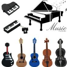 9 styles Musical Instruments Model font b USB b font flash drive violin piano guitar Pen
