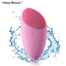 Electric Face Cleansing Brush Silicone Massager Sonic Washing mini Blackhead Removal Pore Cleanser