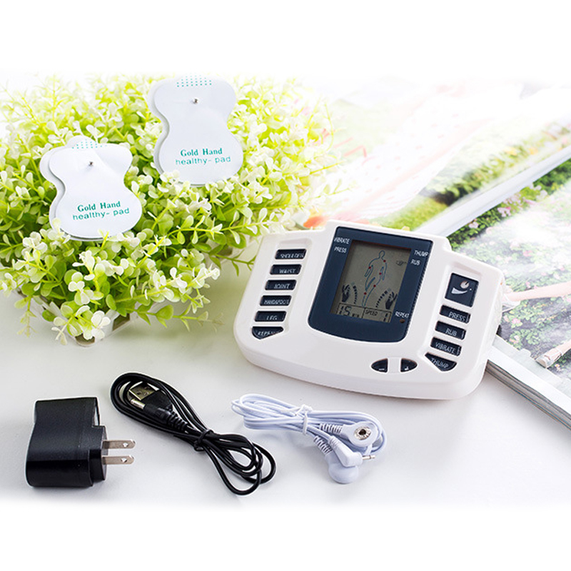 Digital Electronic Body Slimming Pulse Massage Muscle Relax Stimulator Acupuncture Therapy Machine Physiotherapy Apparatus Hot electroestimulador de 4 electrodos