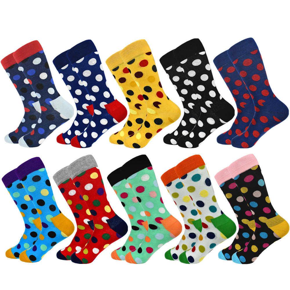 2019 Новое поступление, настоящие носки Sokken, 5 пар носков, мужские, высококачественные, цветные, популярные, хлопковые, мужские, последний дизайн, счастье, без коробки