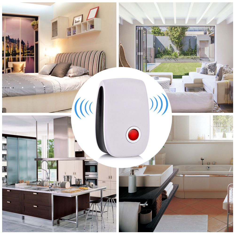 Image 5 - 4pcs/set Electronic Ultrasonic Pest Repeller Mosquito Rejector Mouse Rat Mouse Repellent Anti Insect Mosquito Repeller Killer-in Repellents from Home & Garden