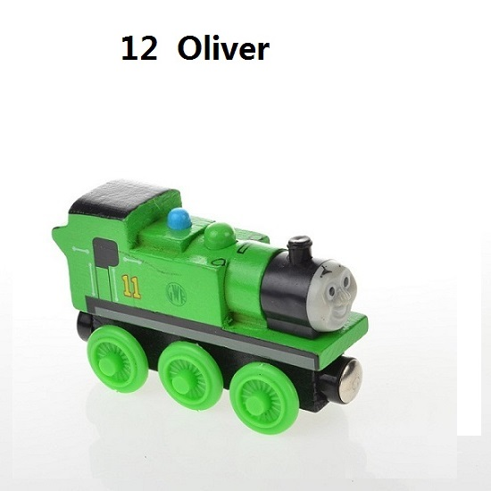 Деревянные магнитные паровозики, игрушки для железной дороги, деревянные паровозики для детей, подарок для детей, модель поезда - Цвет: Прозрачный