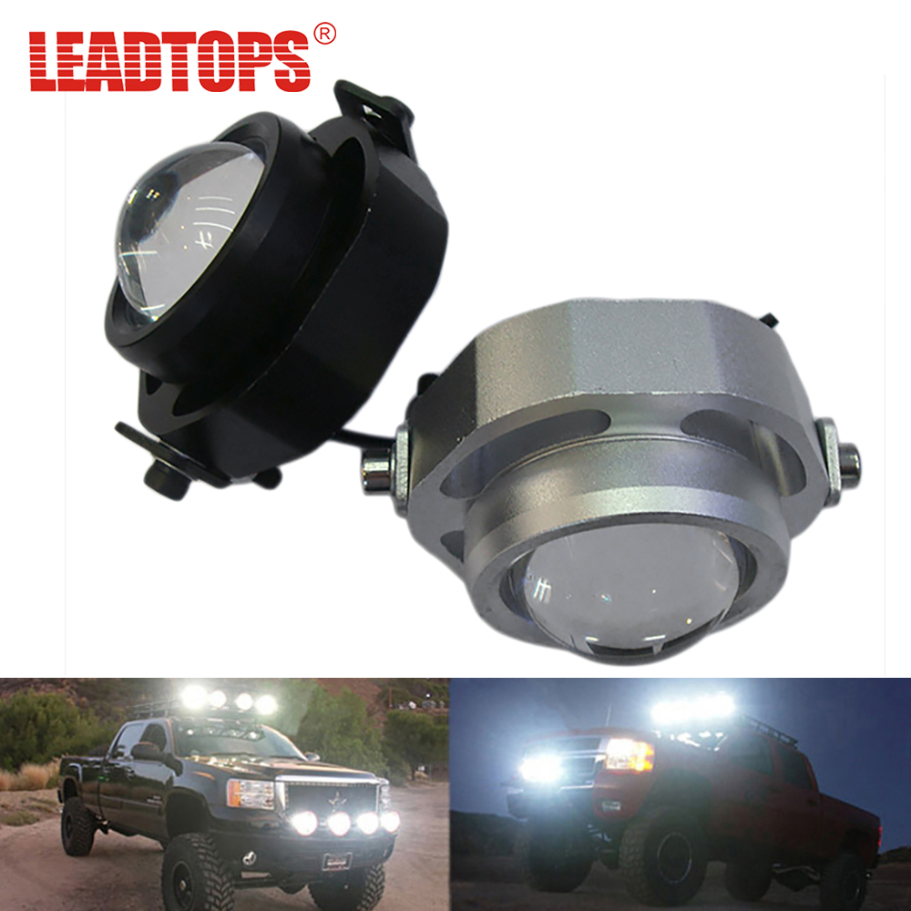 LEADTOPS LED DRL Car Fog Lights Waterproof 1000LM DRL Eagle Eye Daytime Running Light Reverse Backup Parking Foglight 10W CCC AE 1 pair metal shell eagle eye hawkeye 6 led car white drl daytime running light driving fog daylight day safety lamp waterproof