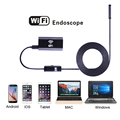 1 m 1.5 m 2 m 3.5 m 5 m Cable IOS Android Wifi Endoscopio con 8mm Lente 6 LED Iphone Impermeable Inspección Del Endoscopio Del Animascopio cámara