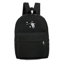 Funny Embroidery Cartoon Canvas Backpack High School Students School Bag Laptop Bag Sack Travel Bag Girls Gift Mochila Escolar