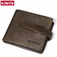 KAVIS Top Quality New Arrival Genuine Leather Man Wallet Luxury Dollar Price Vintage Male Coin Purse