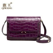 Qiwang Quality Women Shoulder Bag Purse 100% Genuine Leather Crocodile Handbag Luxury Very High