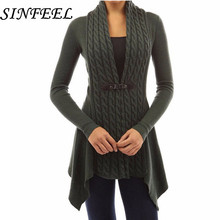 SINFEEL 5XL Autumn Winter Knitted Cardigans Coat Women 2018 Fashion Long Sleeve Poncho Sweater Cardigan feminino Plus Size