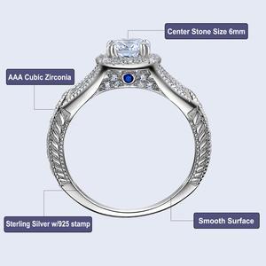 Image 5 - Newshe 2 조각 결혼 반지 세트 925 스털링 실버 1.2Ct 라운드 컷 AAA CZ 약혼 반지 여성 JR5606