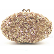gold diamond Crystal Bridesmaid Clutch Evening Bag Wedding Party Box champagne Handbag clutch Purse Women Minaudiere Bag female xiyuan brand pineapple shape red yellow crystal women evening purse metal clutch bag wedding dinner minaudiere handbag wallet