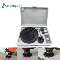 Mainpoint 16pcs DIY Hole Saw Cutting Set Kit 3 4 5 19mm 127mm High Quality Mandrels