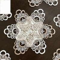 3PCS/set classic embroidered circle cabinet Table Hollow Decoration Accessories Placemat Coffee table mat Pads M567